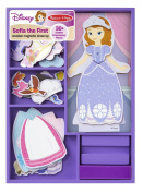 Melissa & Doug Disney Sofia the First Magnetic Dress-Up Wooden Doll Pretend Play Set