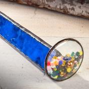 J Devlin Kal 103 Tumble Wheel Kaleidoscope Blue with Glass Chips
