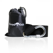EXTRA LONG (2.4m) TREE SWING STRAP - Holds 450kg. - Comes with Instructions - Featuring Heavy Duty Carabiner - Perfect for Tyre and Disc Swings - Hang a Swing in Seconds - Free Carry Bag Included!