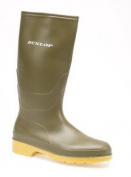 Dunlop DULL Girls Boys Junior Wellington Boots Green