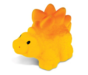 Puzzled Yellow Stegosaurus Rubber Squirter Bath Buddy Bath Toy - Dinosaurs \ Prehistoric Collection - 7.6cm - Item #2777