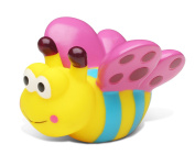 Puzzled Butterfly Bath Buddy Squirter Pink Blue And Yellow 7.6cm