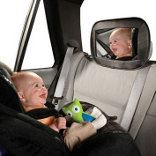 URAQT Baby Car Mirror - View Child in Rear Facing Car Seat with Superior View & Clarity. Babyboon Premium Mirrors are Carefully Designed for Safety