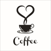 Xinantime Removable DIY Kitchen Decor Coffee Cup Decals Vinyl Mug Wall Sticker