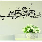 Wall Sticker, Xinantime Vinyl Art Cartoon Owl Butterfly Wall Sticker