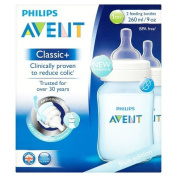 Philips Avent Classic+ 2 Feeding Bottles 1m+ 260ml Blue Edition