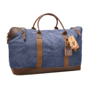 Vinpak Canvas Leather Holdall Travel Duffle Overnight Weekend Satchel Totes Bag Handbags