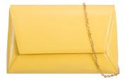 Girly HandBags Patent Plain Clutch Bag