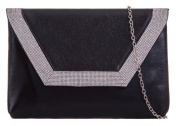 Girly HandBags Diamante Envelope Clutch Bag