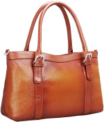 Iswee Women's Leather Shoulder Bag Satchel Handbags and Purse Classic Design Tote for Ladies
