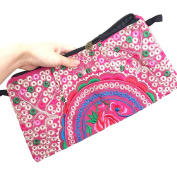 Donalworld Women Embroidered Purse Clutch Bag Shoulder Ethnic Crossbody Messenger
