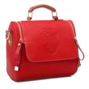 Handbag - TOOGOO(R) Fashion Women Handbag Vintage Stamping Shield Camera Satchel Shouder Bags Red