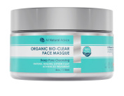 NEW! All Natural Advice Organic Bio-Clear Face Masque - Made in Canada- Deep Pore Cleansing Facial - Clean, Hydrating Mask and Pore Minimizer - Dark Spot Corrector, Blackhead Remover, Acne Treatment 120 ml or 4 oz container