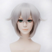 LanTing Touken Ranbu The Sword Dance Hotarumaru Grey Purple Short Styled Woman Cosplay Party Fashion Anime Wig