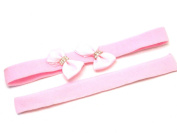 Lapeach Fashions New Beautiful Children Plain And Bow Tie Kylie Bands Hair Bands Set Of Two