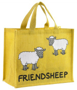 Sheep Design Canvas Jute Shopping bag