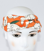 GIFZY 100% Cotton Fabric Head band/ Hair Wrap (Women's Gypsy/hippie Bandana), cool . ,chic and cute love flowers design