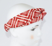 GIFZY 100% Cotton Fabric Head band/ Hair Wrap (Women's Gypsy/hippie Bandana), cool . ,chic and cute red and white abstract design