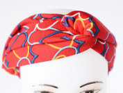 GIFZY 100% Cotton Fabric Head band/ Hair Wrap (Women's Gypsy/hippie Bandana), cool . ,chic and cute red with hearts design
