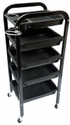 TekNoh 5 - Storage Trolley (New Strong Design Frame - High Gloss Finish) - Salon Hairdresser Barber Beauty Hair Drawers Colouring Cart Spa