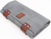 Hairdressers Scissors Hair Tools bag, Leather tools pouch for stylist - 12 Pockets