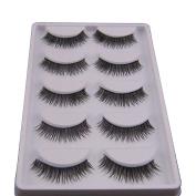 LHWY 5 Pair Natural Look False Eyelashes Voluminous Eyelashes Extension Makeup