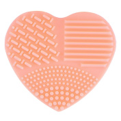 Molie Makeup Brush Cleaning Mat Silicone Heart-shaped Finger Glove Hand Washing Brush Cleaner Scrubber Suction Cup
