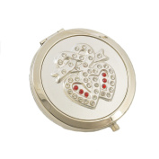 Compact Mirror Hearts entwined design
