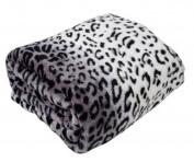 Country Club Animal Microfleece White Leopard Fleece