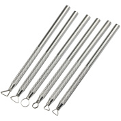 TRIXES Pack of 6 Silver Aluminium Sculpting Hand Tools Ceramic Pottery Arts and Crafts Shapers