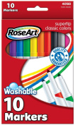 RoseArt Classic SuperTip Markers, 10-Count, Packaging May Vary