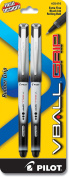 Pilot VBall Grip Liquid Ink Rolling Ball Pens, Extra Fine Point, 2-Pack, Black Ink