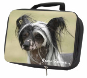 "Chinese Crested Dog ""Yours Forever..."" Black Insulated Lunch Box"