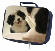 Border Collie in Mirror Navy Insulated Lunch Box
