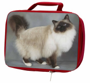 Gorgeous Birman Cat Insulated Red Lunch Box