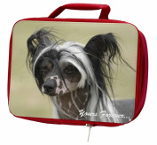 "Chinese Crested Dog ""Yours Forever..."" Insulated Red Lunch Box"