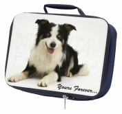 Border Collie Dog 'Yours Forever' Navy Insulated Lunch Box