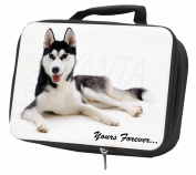 Siberian Husky 'Yours Forever' Black Insulated Lunch Box