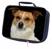 Jack Russell Terrier Dog Navy Insulated Lunch Box