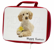 Poodle 'Happy Easter' Insulated Red Lunch Box