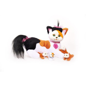 "Kitty Surprise Plush Calico Cat & Kittens - ""Maple"""