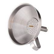 Kitchen Stainless Steel Funnel With Detachable Strainer Large Wide Mouth Cooking Tools Kitchen Bar Accessory