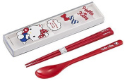 OSK Hello Kitty chopstick & spoon 18cm with case from Japan
