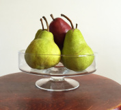 1 x Handmade Glass Display Fruit Bowl | Holder 7 cm high 18.5 cm diameter