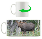 elk, Motif cup in white ceramic 300ml, Great gift idea for any occasion. Your new favourite mug for coffee, tea and hot drinks.