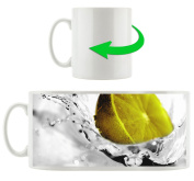 Lime in the water black / white, Motive cup in white ceramic 300ml, Great gift idea for any occasion. Your new favourite mug for coffee, tea and hot drinks.