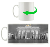 beautiful Brandenburg Gate black / white, Motive cup in white ceramic 300ml, Great gift idea for any occasion. Your new favourite mug for coffee, tea and hot drinks.