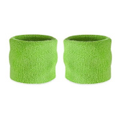 Suddora Kids Wrist Sweatbands - Athletic Cotton Terry Cloth Wristbands for Sports