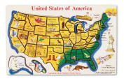 Melissa & Doug USA Map Wooden Puzzle