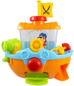 Pirate Ship Boat & Water Cannon Baby Bath Time Water Fun Toy